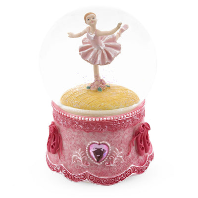 Spinning Ballerina in Pink Musical Water Snow Globe by BestPysanky