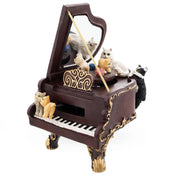 Cats Playing the Piano Animated Figurine with Music Box by BestPysanky