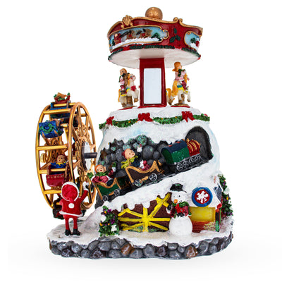 Spinning Ferris Wheel and Winter Village Musical Figurine by BestPysanky