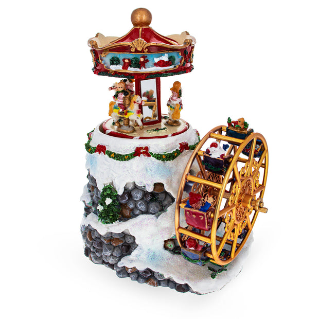Buy Online Gift Shop Spinning Ferris Wheel and Winter Village Musical Snow Globe