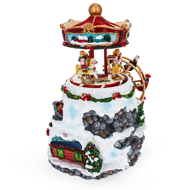 Spinning Ferris Wheel and Winter Village Musical Snow Globe