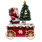 Buy Online Gift Shop Santa with spinning Christmas Tree Musical Box on Wheels