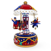 Boy with Airplane Musical Carousel by BestPysanky