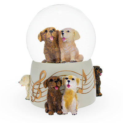 Dogs Party Musical Water Snow Globe by BestPysanky