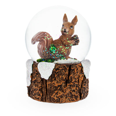 Squirrel Holding Pinecone Mini Water Snow Globe by BestPysanky