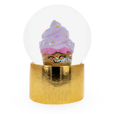 Golden Cupcake Mini Water Snow Globe by BestPysanky