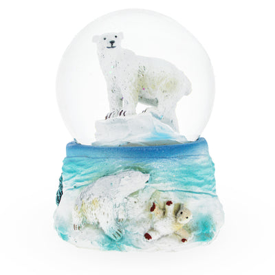 Polar Bears Mini Water Snow Globe by BestPysanky