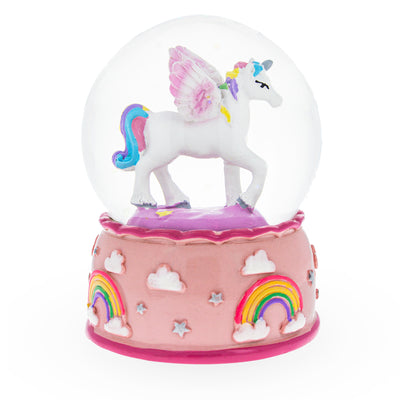 Unicorn and Rainbows Glitter Mini Water Snow Globe by BestPysanky