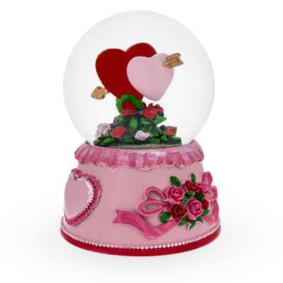 Two Hearts in Love Musical Water Snow Globe by BestPysanky