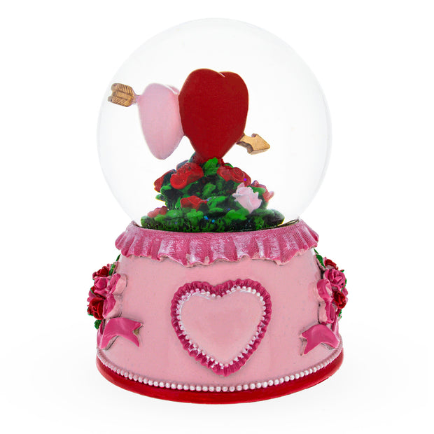 Buy Online Gift Shop Two Hearts in Love Musical Water Snow Globe