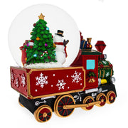 Buy Online Gift Shop Snowman and Christmas Tree With Train Base Musical Water Globe
