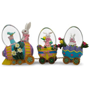 Bunnies Riding Easter Egg Train Water Globe by BestPysanky