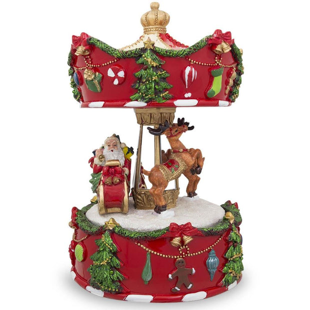Buy Musical Figurines > Carousels > Santa by BestPysanky