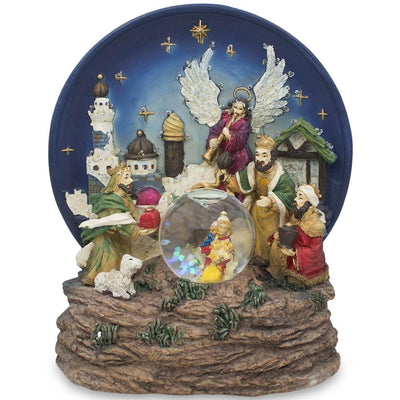 LED Lights Animated Nativity Scene Musical Water Snow Globe by BestPysanky