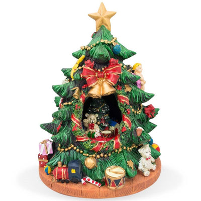 Spinning Musical Tabletop Christmas Tree Figurine by BestPysanky