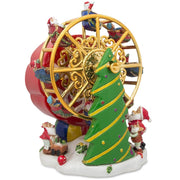 Spinning Ferris Wheel with Santa and Christmas Tree Musical Figurine by BestPysanky