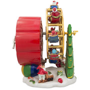 Buy Online Gift Shop Spinning Ferris Wheel with Santa and Christmas Tree Musical Figurine