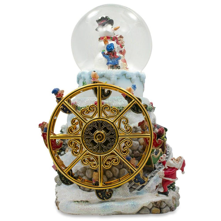 Buy Online Gift Shop Rotating Ferris Wheel with Gnomes Musical Snow Globe