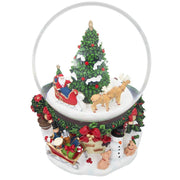 Buy Online Gift Shop Santa by Christmas Tree Rotating Musical Water Globe