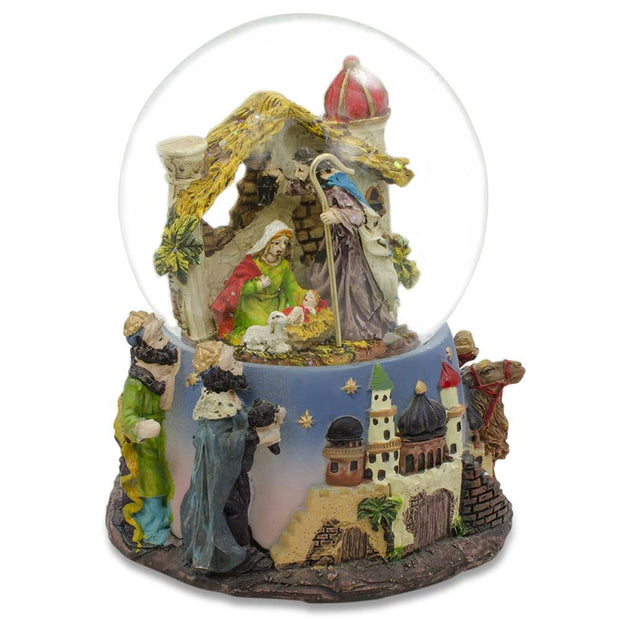 Nativity Scene Musical Snow Globe by BestPysanky