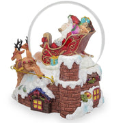 Buy Online Gift Shop Santa Delivers Christmas Gifts Musical Snow Globe
