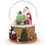 Buy Online Gift Shop Santa Exploring World with Gnomes Musical Water Snow Globe
