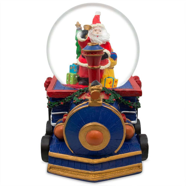 Buy Online Gift Shop Santa Delivering Christmas Gifts by Train Musical Water Snow Globe