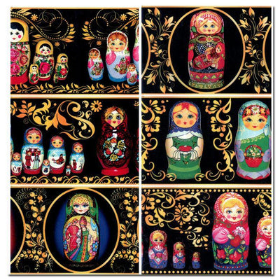 6 Matryoshka Easter Egg Wraps by BestPysanky