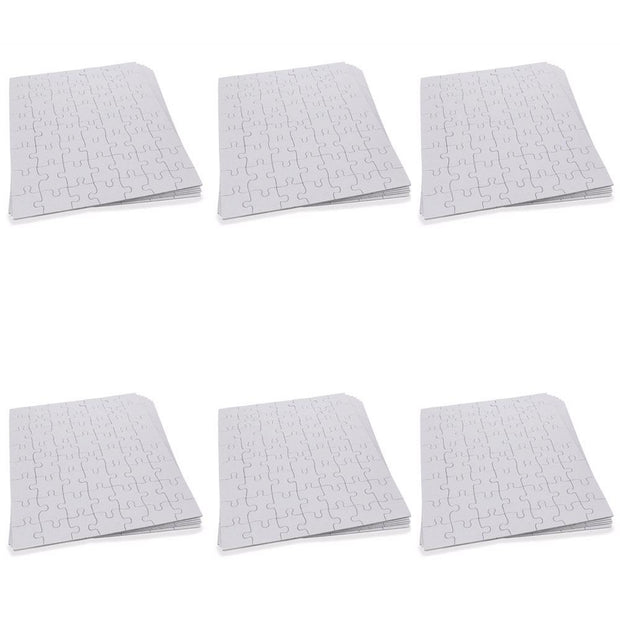 Set of 6 White Blank Create a Jigsaw Puzzles 10 Inches x 8 Inches by BestPysanky