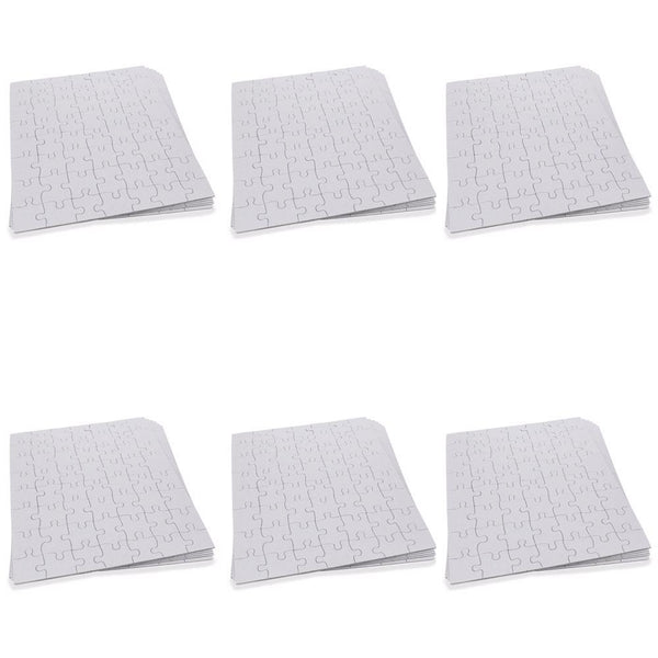 "10"" x 8"" Set of 6 White Blank Create a Jigsaw Puzzles"