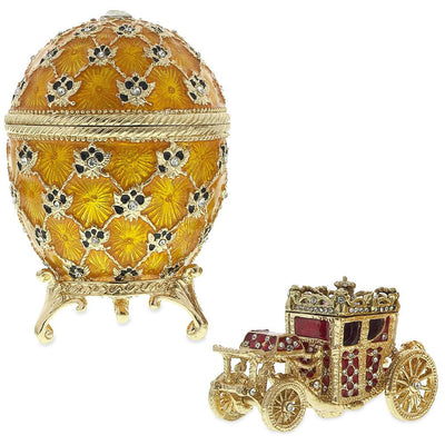 1897 Coronation Royal Russian Egg 3.8 Inches by BestPysanky