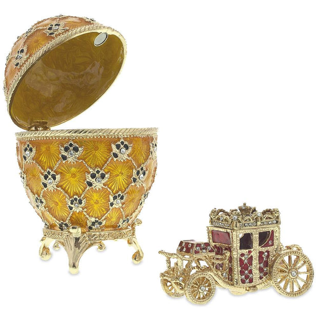 1897 Coronation Royal Russian Egg 3.8 Inches