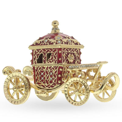Tsar Coronation Coach Russian Trinket Jewelry Box by BestPysanky