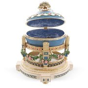 Buy Online Gift Shop 1907 Love Trophies Egg (Cradle with Garlands) Musical Royal Russian Egg