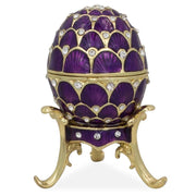 Crystal Purple Arches Enameled Royal Inspired Russian Easter Egg 2.25 Inches by BestPysanky