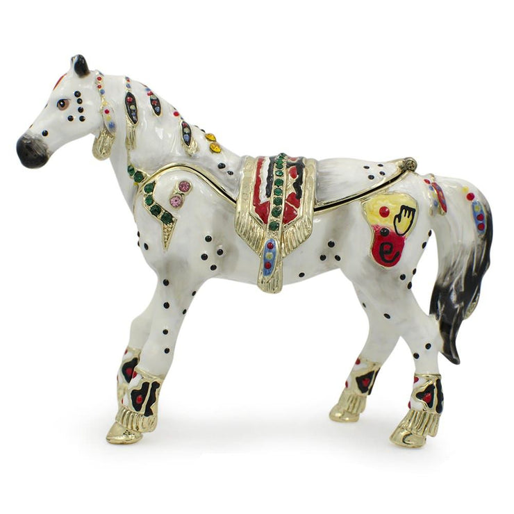 Jeweled Horse Trinket Box Figurine 3.5 Inches by BestPysanky
