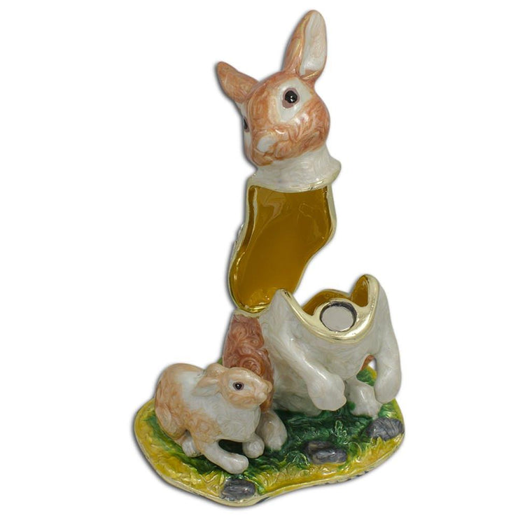 Buy Online Gift Shop Bunny Family Trinket Box 3.25 Inches