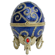 Jeweled Royal Elephant Egg Figurine 7.5 Inches by BestPysanky