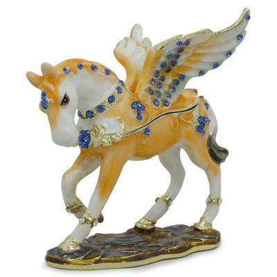 Jeweled Pegasus Horse Trinket Box Figurine 3.25 Inches by BestPysanky