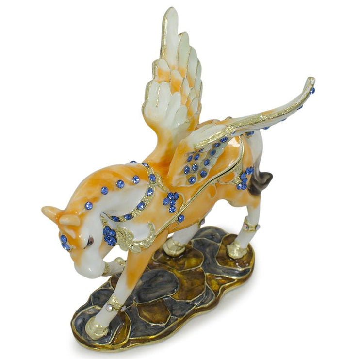 Buy Online Gift Shop Jeweled Pegasus Horse Trinket Box Figurine 3.25 Inches