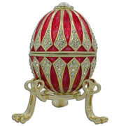Red Enamel Jeweled Royal Inspired Russian Egg 3.25 Inches by BestPysanky
