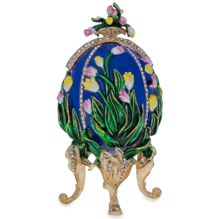 Buy Online Gift Shop 1898 Lilies of the Valley Royal Russian Egg 4.75 Inches