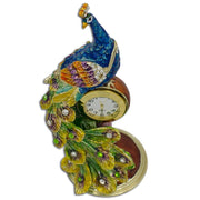 Buy Online Gift Shop Peacock Sitting on a Clock  Trinket Box Figurine 5.5 Inches