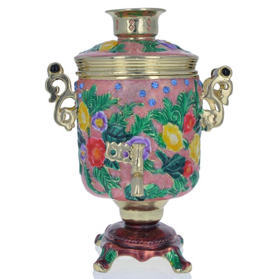 Russian Samovar Teapot Trinket Box Figurine 4.5 Inches by BestPysanky