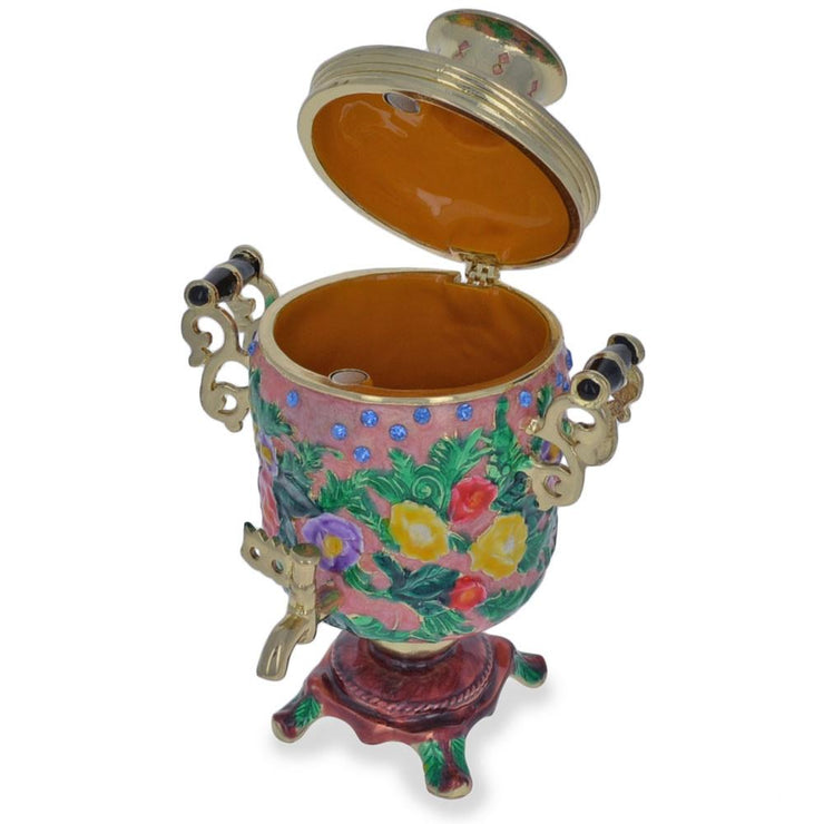 Buy Online Gift Shop Russian Samovar Teapot Trinket Box Figurine 4.5 Inches