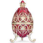Red Royal Jeweled Crown Royal Inspired Russian Egg 4.5 Inches by BestPysanky