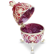 Red Royal Jeweled Crown Royal Inspired Russian Egg 4.5 Inches