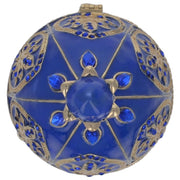 Blue Jewel Royal Crown Royal Inspired Russian Egg 4.5 Inches