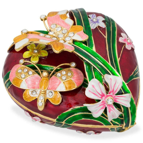 "6.5"" Valentine's Love Heart with Butterfly Jewelry Box 