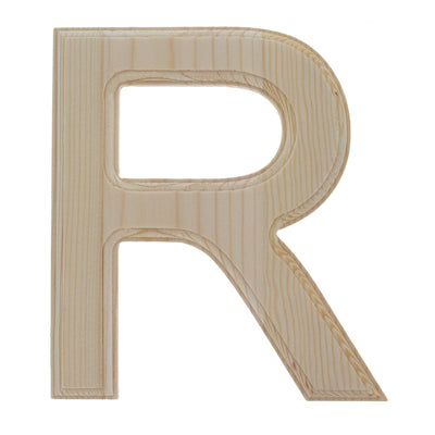 Unfinished Wooden Arial Font Letter R 6.25 Inches by BestPysanky